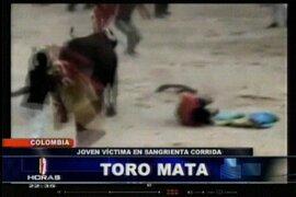 Violenta corrida de toros dejó cinco heridos en Colombia