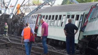 Cuatro personas perdieron la vida al descarrilarse tren en Polonia
