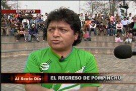 """El regreso del cómico ambulante """"Pompinchu"""" a las plazas limeñas"""