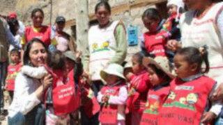 Nadine Heredia lleva ayuda a afectados por las heladas En Apurímac