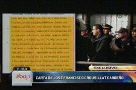 José Francisco Crousillat envía una reveladora carta a Beto Ortiz