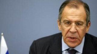 Canciller ruso Lavrov Sergey Viktotovich cumple visita oficial en Lima