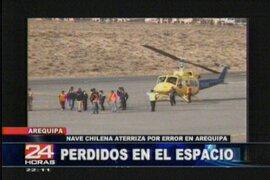 Helicóptero con dos ciudadanos chilenos aterrizó de emergencia en Arequipa