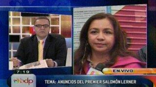 Primera vicepresidenta y ministro Burneo respaldan anuncios del Premier Salomón Lerner