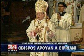 Conferencia Episcopal respaldó al cardenal Cipriani debido a los enfrentamientos con la PUCP