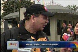 """Minsa lanza la campaña """"Un día sin auto"""""""