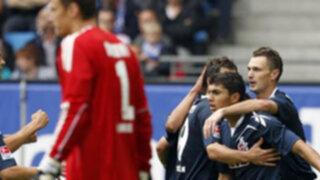 Hamburgo con Guerrero perdió 4-3 con el Colonia