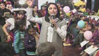 Nadine Heredia y los niños disfrutan una fiesta en Palacio de Gobierno