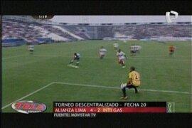 Resumen de la fecha 20 del descentralizado peruano en Teledeportes