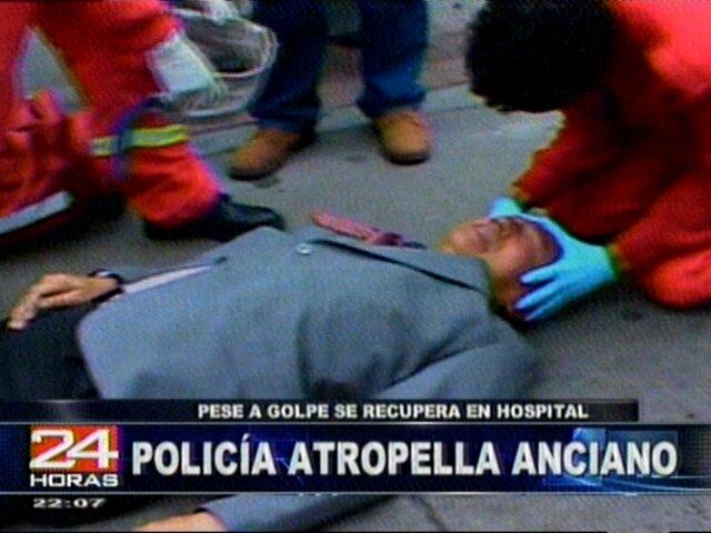 Un anciano fue atropellado por la moto de un policía en Barranco
