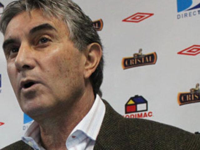 Gerente de Sporting Cristal Juan Carlos Oblitas refirió tener pruebas de los errores arbitrales