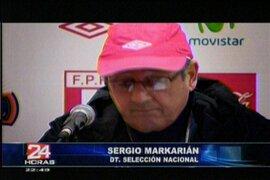Bajo las órdenes de Sergio Markarián la selección volvió al gramado del Estadio Nacional