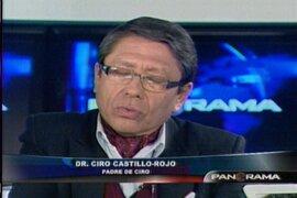 """Padre de Ciro Castillo indica que """"nada es casual"""" en la desaparición de su hijo"""