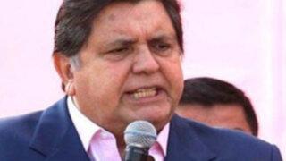 Alan García: Sería atroz que el Movadef se convierta en partido político