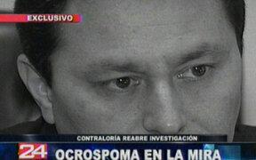 Contraloría General de la República reabre investigación contra alcalde Enrique Ocrospoma