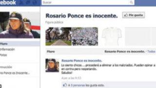 Crean cuentas en Facebook apoyando inocencia de Rosario Ponce