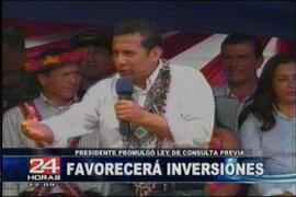 Presidente Humala: Ley de Consulta Previa ayuda a construir una nación