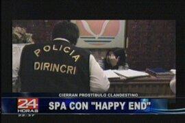 Policía interviene prostíbulo clandestino en San Borja
