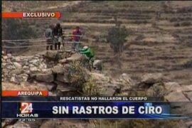 Topos de México continúan buscando el cuerpo de Ciro Castillo en el cerro Fortaleza