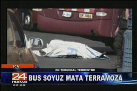 Una mujer murió al ser atropellada en Ica