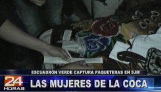 Policía captura a vendedoras de droga en San Juan de Miraflores