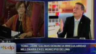 Jaime Salinas: Alcaldesa gobierna Lima asesorada por amigos y no por profesionales