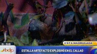 Desconocidos hacen detonar artefacto en casa de empresario minero