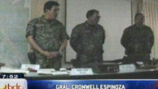 Policía nacional presenta las armas incautadas recientemente a narcoterroristas