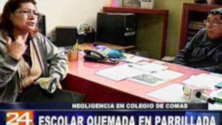 Negligencia en un colegio de Comas deja una niña con quemaduras en el rostro