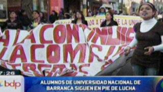 Alumnos de la Universidad de Barranca siguen en pie de lucha