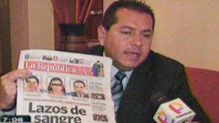 """José Espinoza reconoce vínculo familiar entre su esposa y el denominado """"Loco David"""""""
