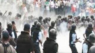 Mineros informales y la policía se enfrentan en Áncash