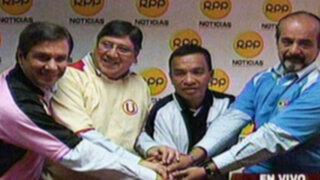 Presidentes de los principales clubes de fútbol intercambian camisetas por la paz
