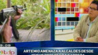 "Jaime Antezana: ""Artemio"" tiene bajo amenaza de muerte a alcaldes del Huallaga"