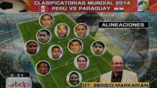 Estos serían los titulares de Markarián para el partido Perú-Paraguay