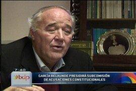 García Belaunde será el presidente de la subcomisión de acusaciones constitucionales