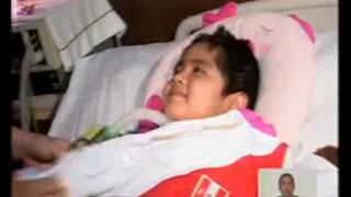 Pequeña Romina Cornejo recibió respirador mecánico