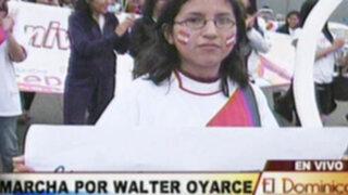 Marcha en memoria de joven hincha Walter Oyarce