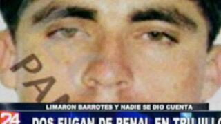 Dos reos fugan de penal en Trujillo limando los barrotes de sus celdas