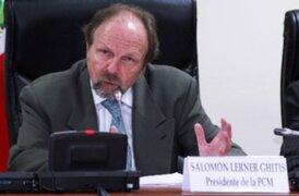 """Salomón Lerner calificó como """"un error"""" propuesta de amnistía general"""