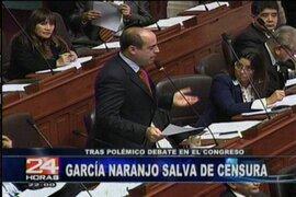 En candente sesión del pleno la ministra García Naranjo se salvó de la interpelación