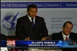 Presidente Humala: Lucha por la democracia une a los medios con el Estado