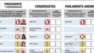 JNE presenta propuesta para eliminar el voto preferencial