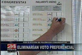 Congreso considera prioritario eliminar el voto preferencial en esta legislatura