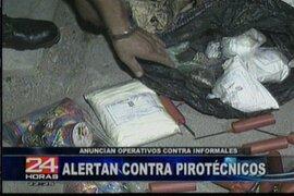 Operativos contra el comercio ilegal de pirotécnicos se inician en una semana