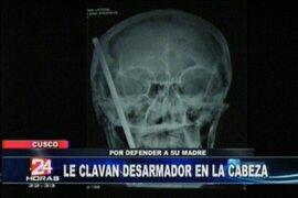 Clavan desarmador en la cabeza de una mujer cusqueña