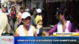 Informe sobre nuevo movimiento sísmico en Ica