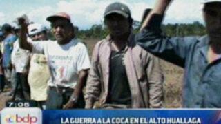 En el Alto Huallaga los pobladores le declaran la guerra a la Coca