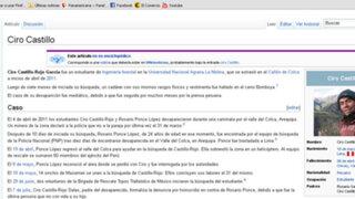 Biografía y cronología de la desaparición de Ciro Castillo ya está en Wikipedia