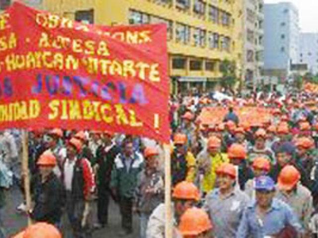 CGTP marcha para respaldar cambios iniciados por el Gobierno